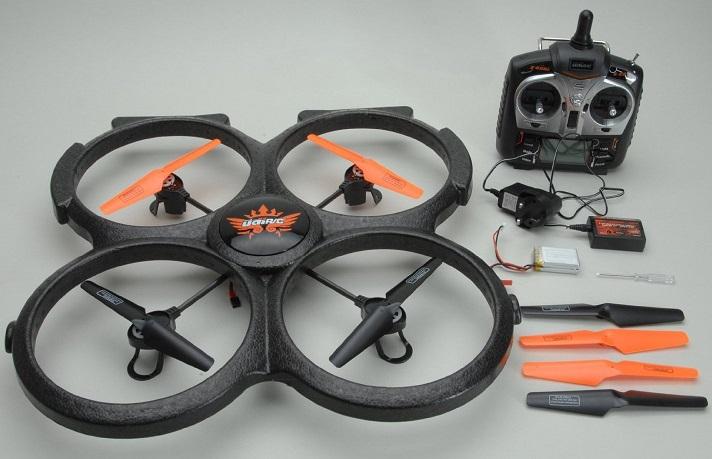 Lieferumfang der UDI U829A Drohne