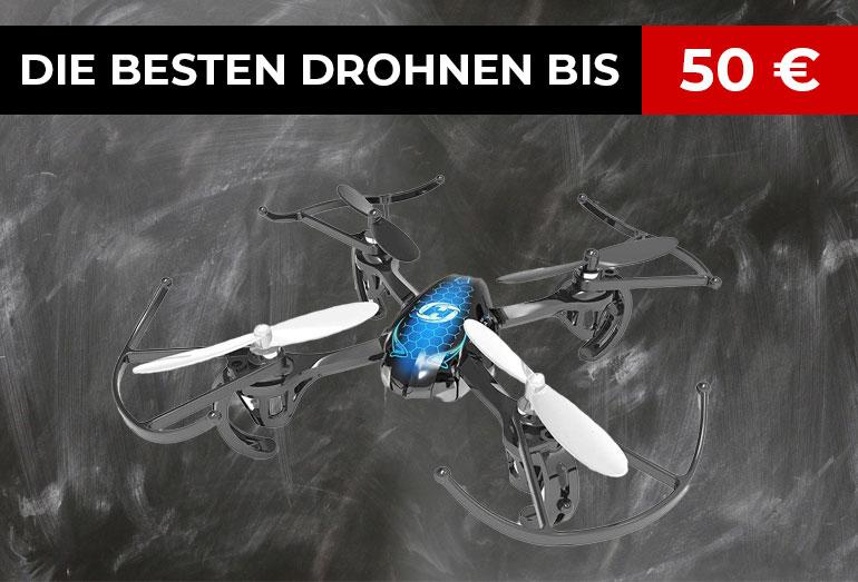Die besten Drohnen bis 50 Euro im Vergleich: